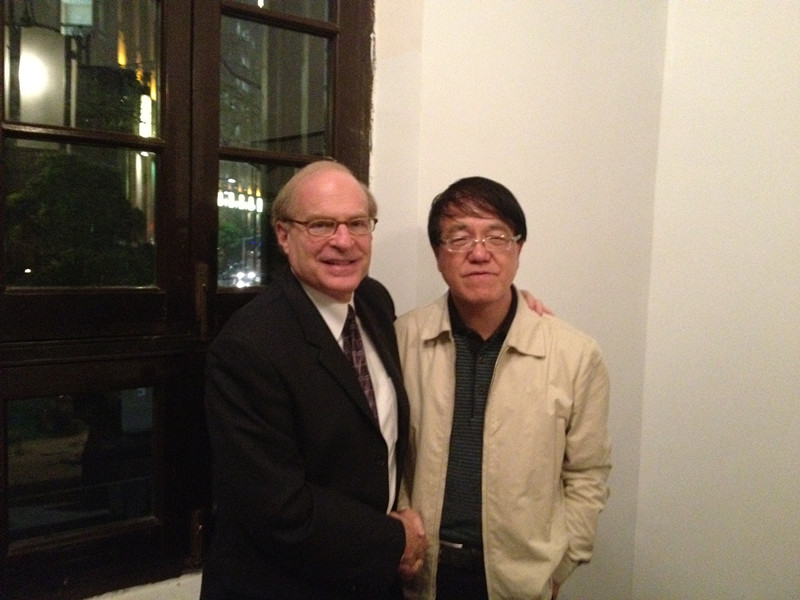 ballbet体育官网理事长李宣海与AAHC首席执行官Dr.Steven Wartman会面